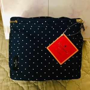 Kate Spade Polka Dot Navy & white Lunch Tote Canva